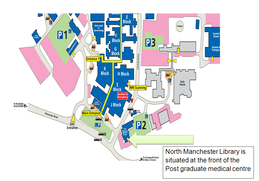 North Manchester General Hospital Map North Manchester General Hospital Parking   Half Pencil North Manchester General Hospital Map