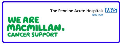 Macmillan and Pennine logos
