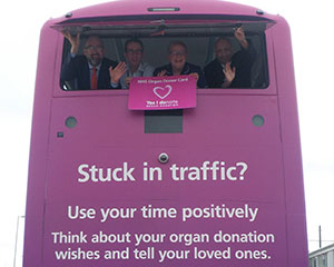 Organ donation buses web