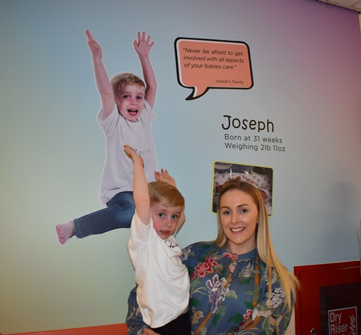 Joseph with mum, Beth Hurst