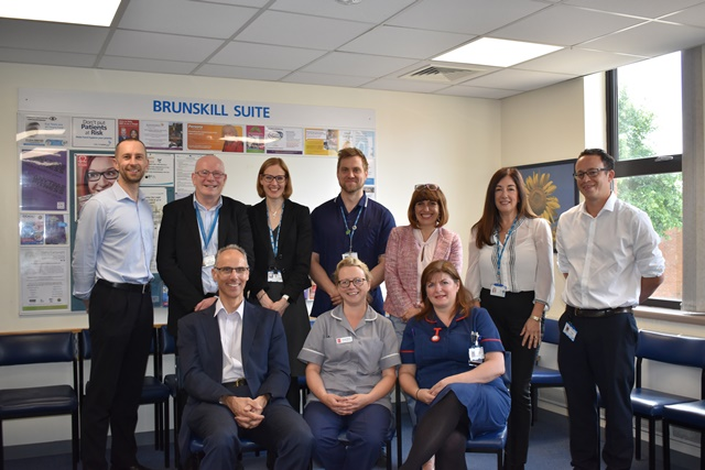 Members of the Bury Integrated Community Cardiology Pilot project team, pictured at Fairfield General Hospital, Bury.