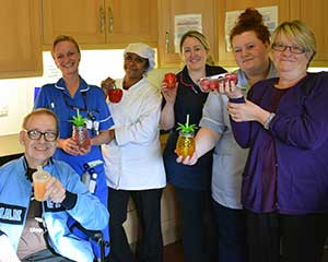 Nutrition and Hydration Week - Health care staff highlight the importance of good nutrition for elderly patients